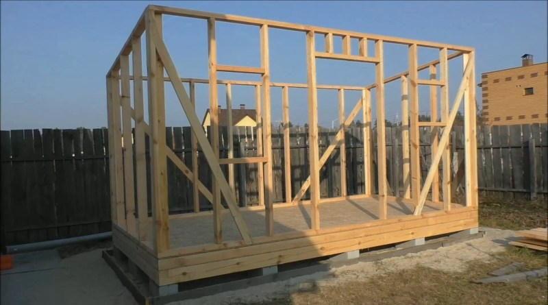 Сборка каркасных стен из доски 100х50 мм. Строительство каркасной котельной