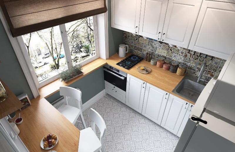 Планировка гарнитуров на кухне