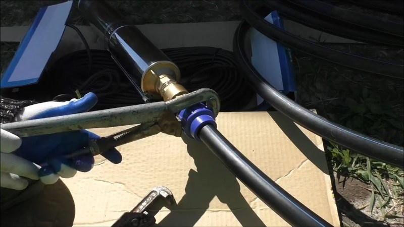 Подключение ПНД трубы к насосу