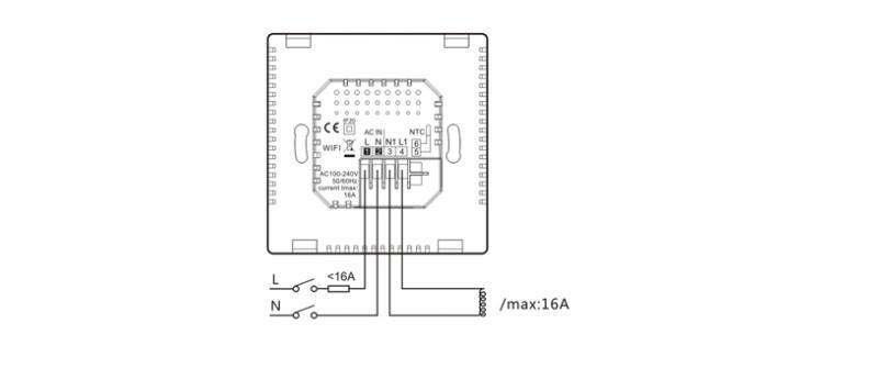 Схема подключения термостата POER PTC26